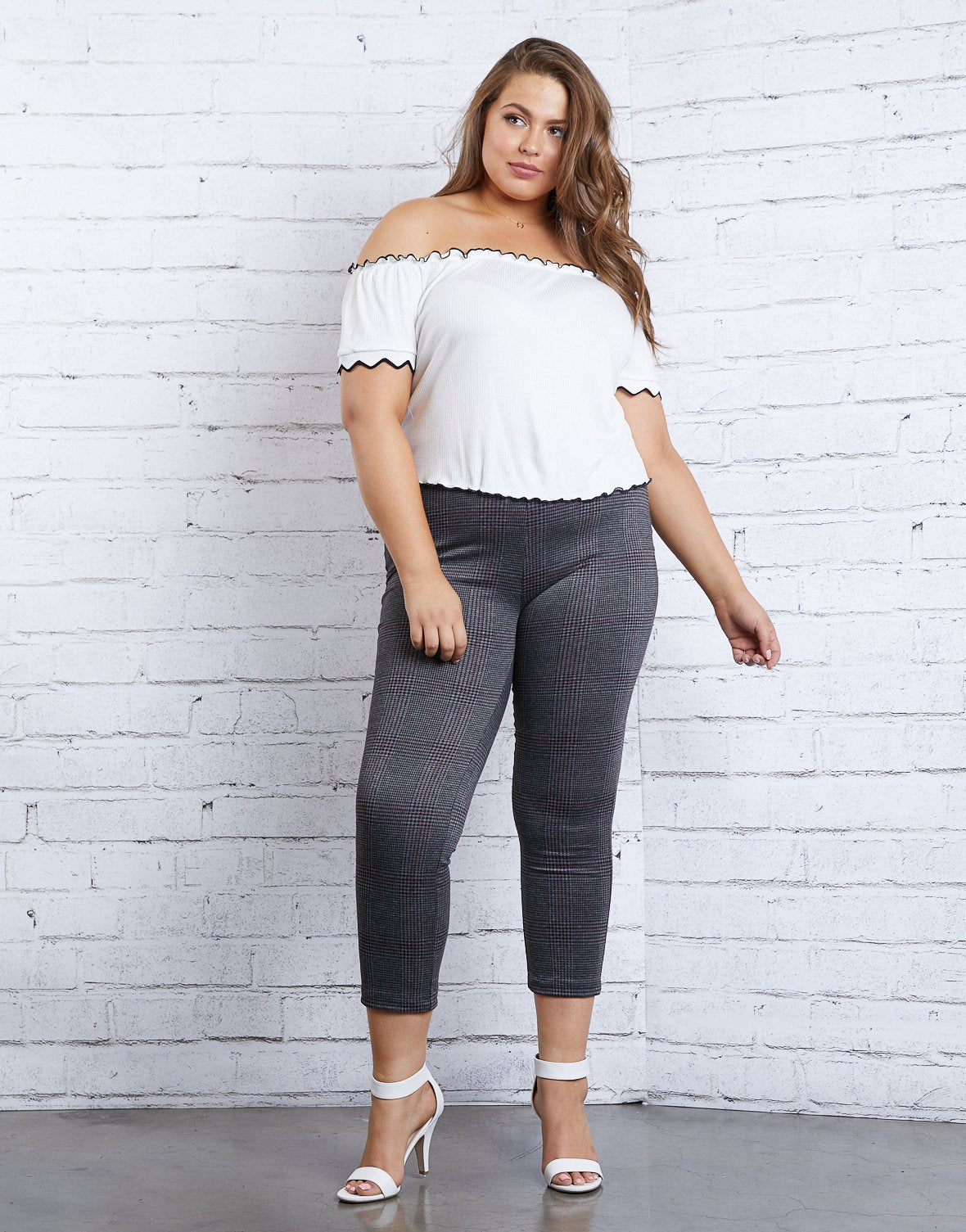 Curve Houndstooth Leggings