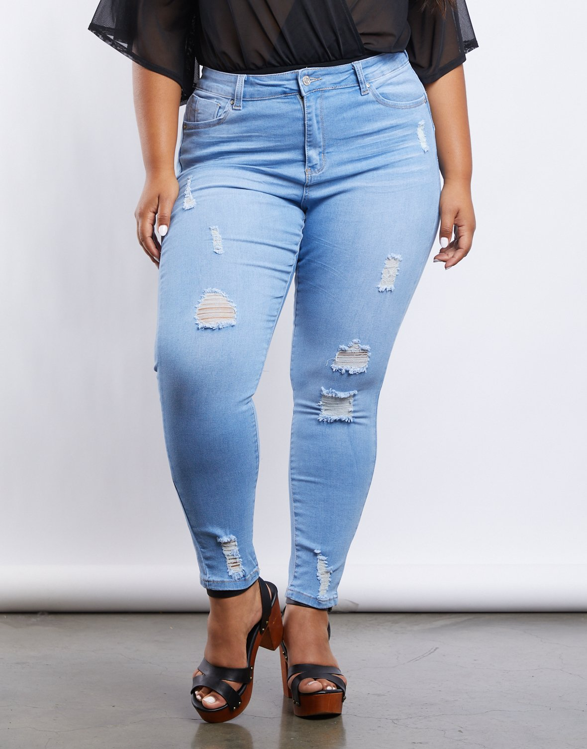Curve Lilia Ripped Jeans