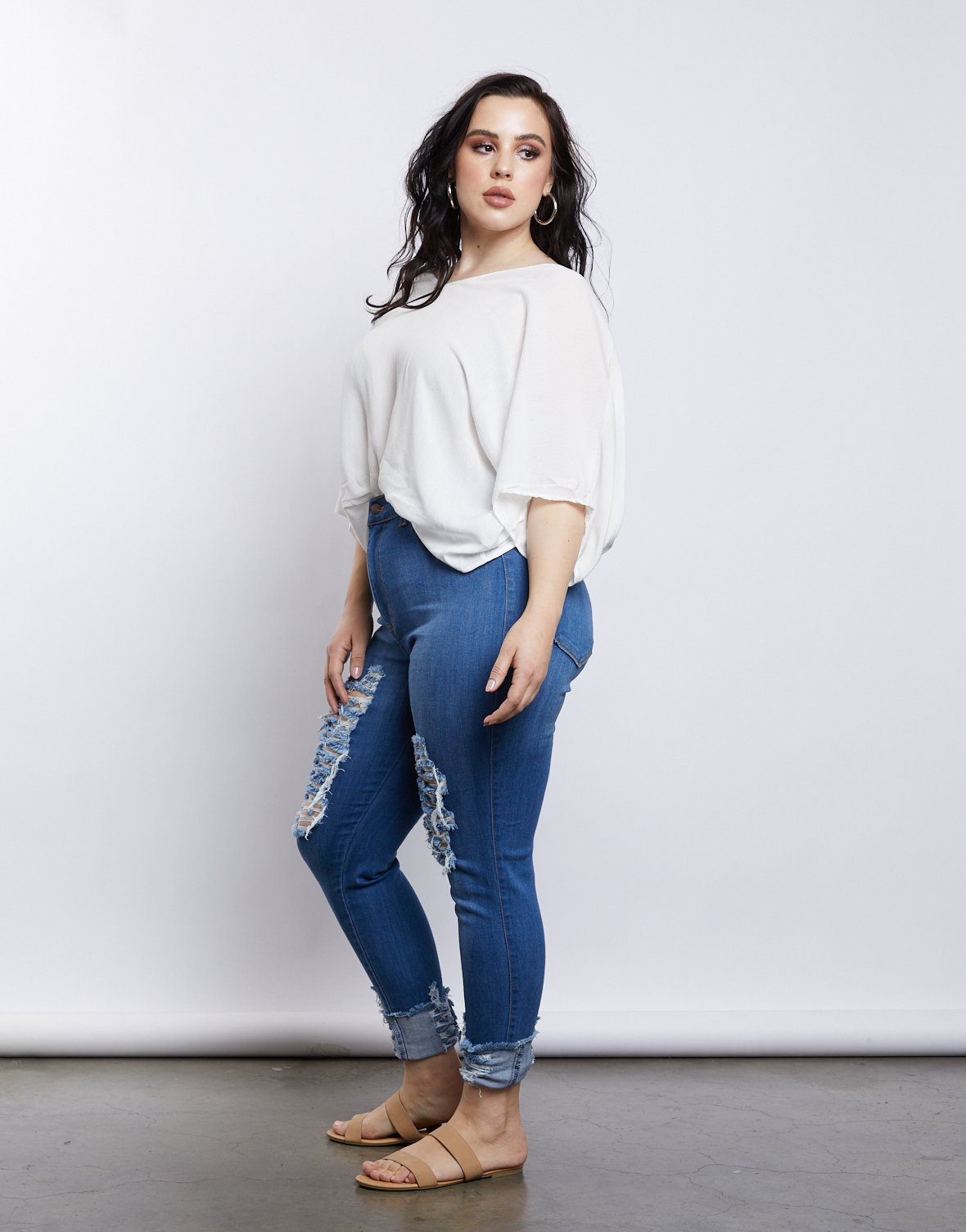 Curve On Cloud Nine Blouse
