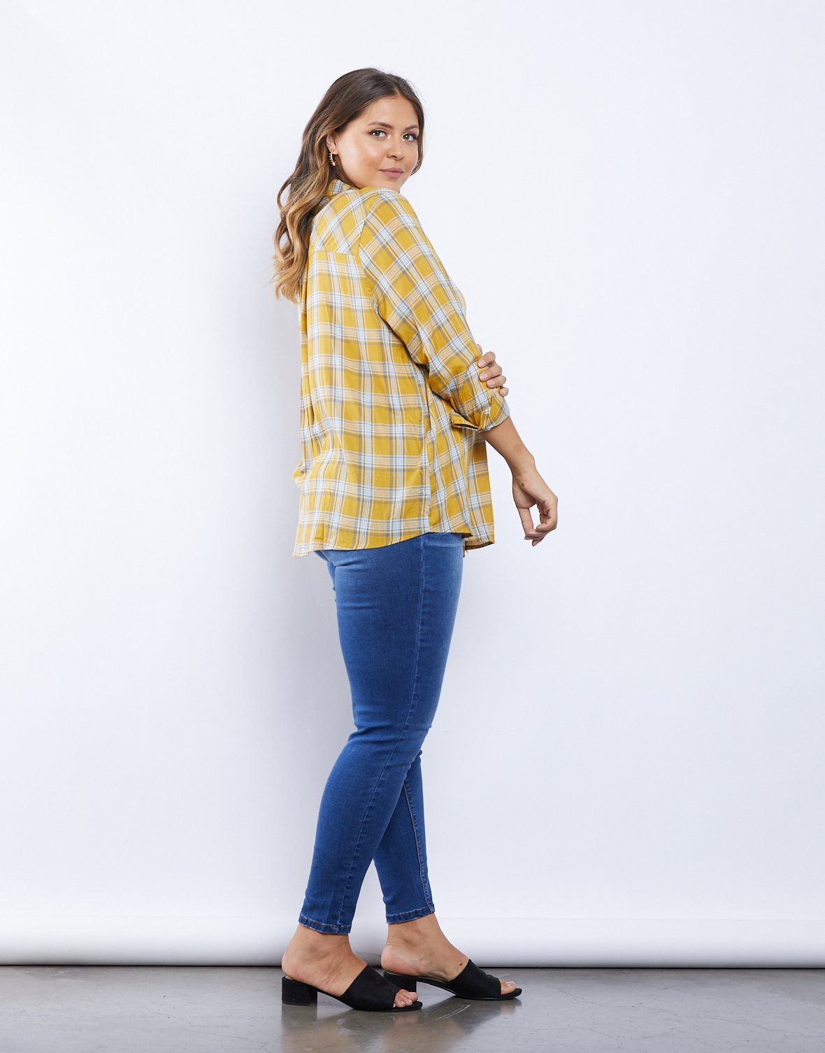 Curve Western Touch Plaid Shirt