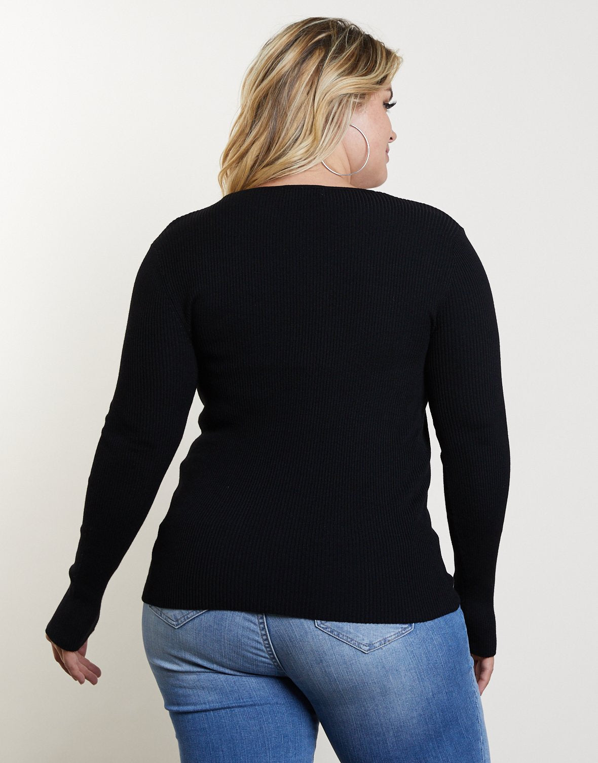 Curve You and V Sweater