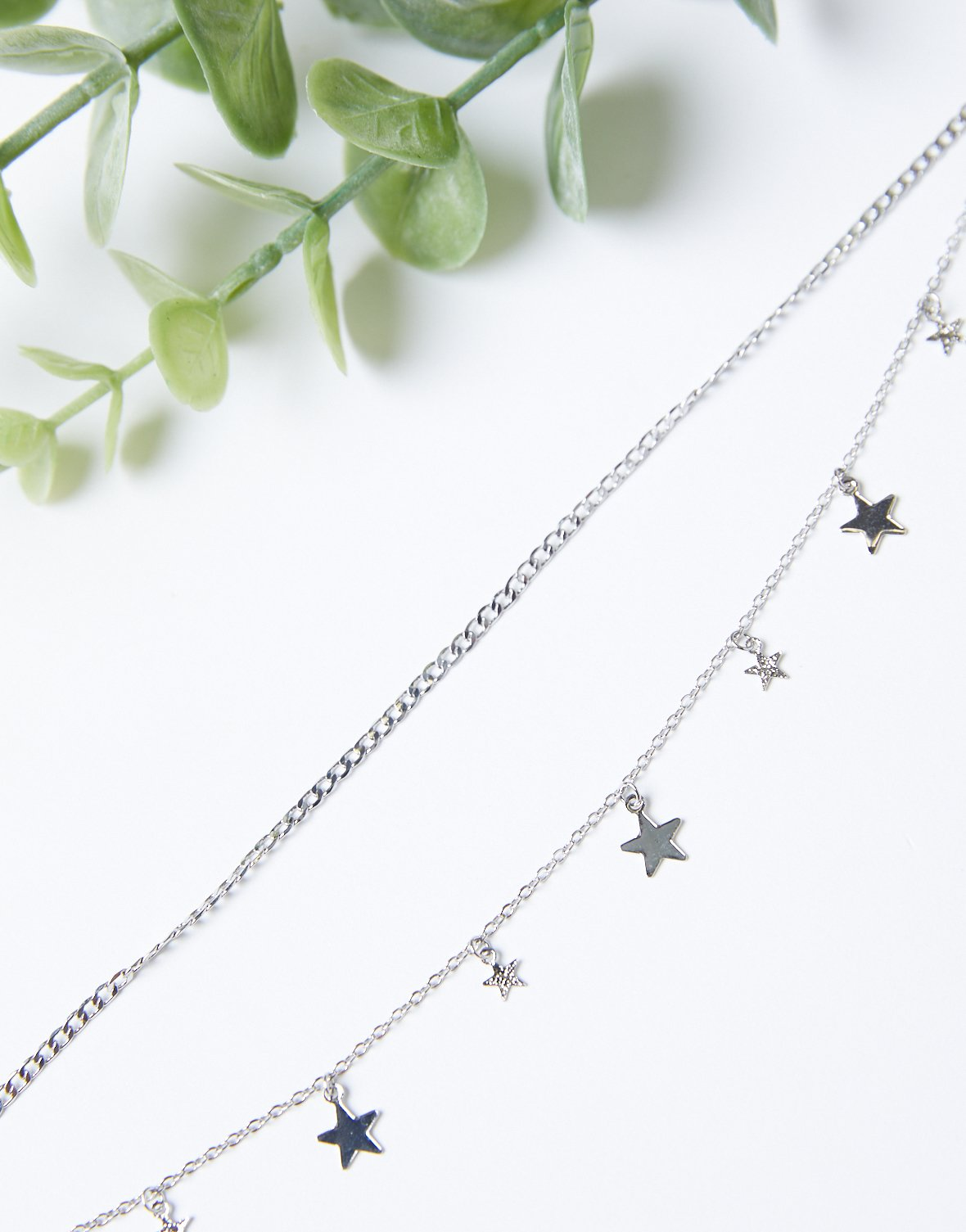 Silver Stars Dainty Anklet