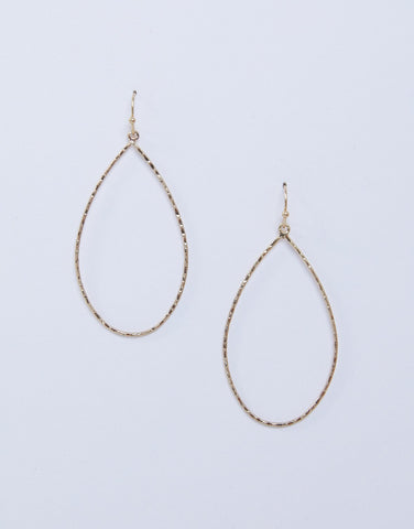 Teardrop Hoop Earrings