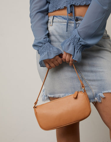 Vegan Leather Baguette Bag
