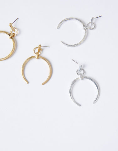 Vintage Crescent Moon Earrings