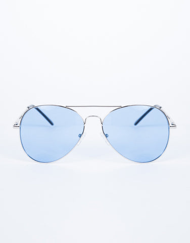 Blue Cooled Down Aviators - Front View