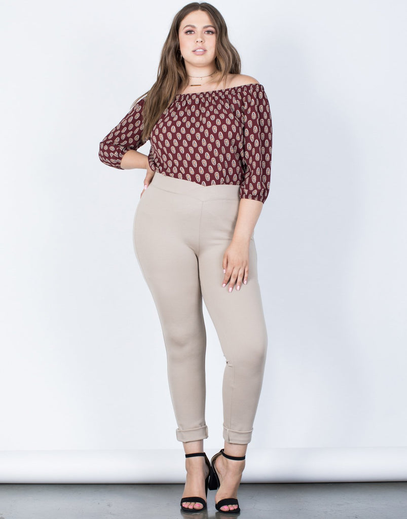 Curve Crossing Paths Banded Pants