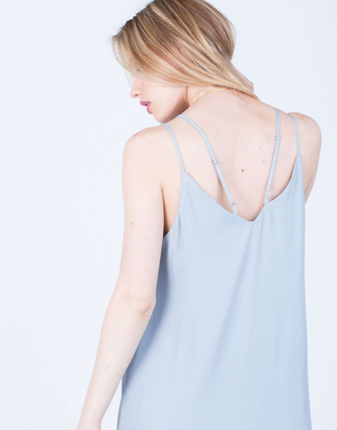 Detail of Strappy V-Neck Midi Dress