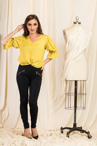 Yellow Creseda Top
