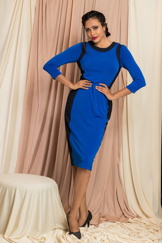 Tape Side Bodycon Dress