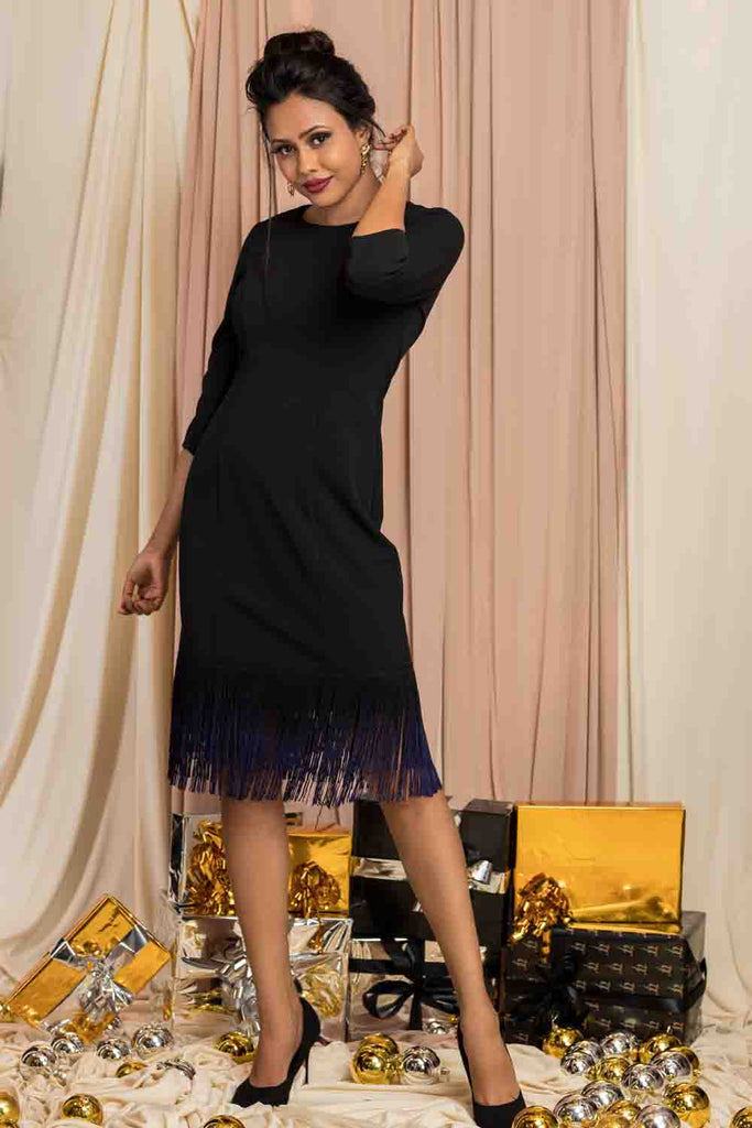 Black Tussel Dress