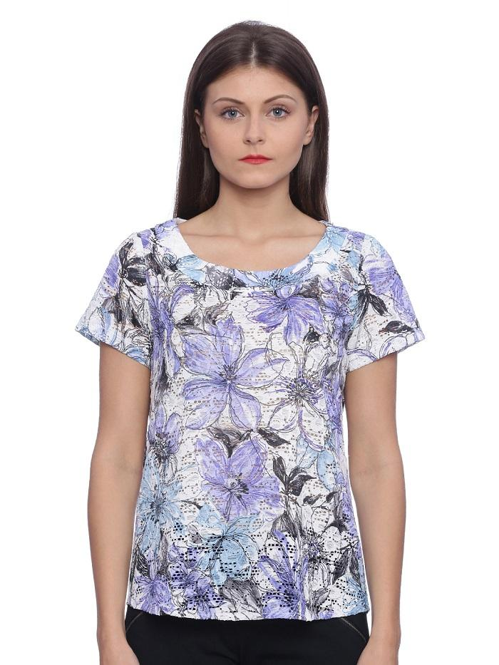 Purple Floral Printed Top