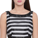 Monochrome Stripe Dress