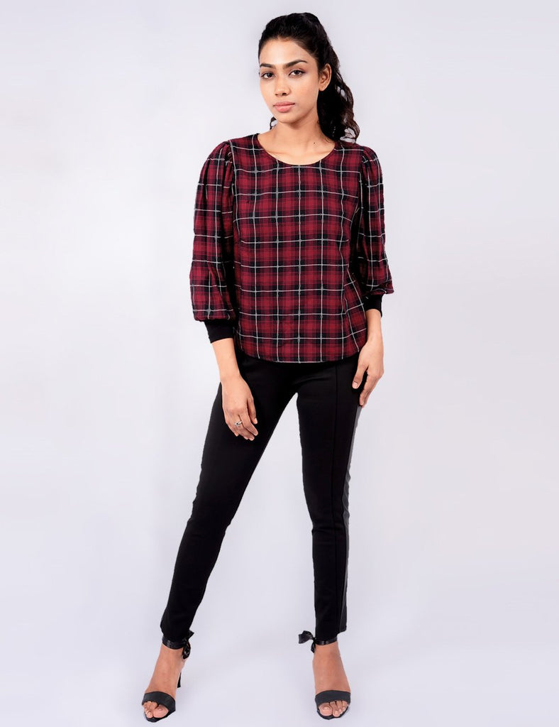 Isabella Checkered Top