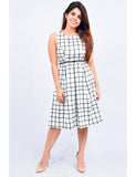 Checkered Black and White Dress