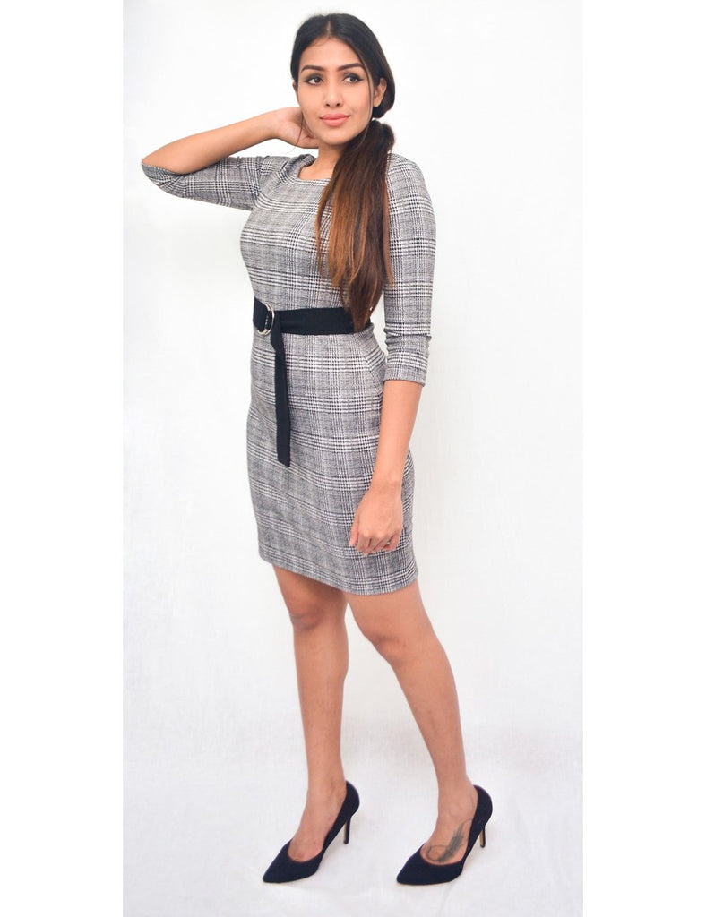 Avirate Checkered Dress
