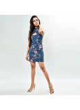 Gabriella High Neck Floral Dress