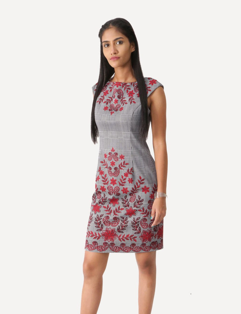 Iris Grey and Red Dress
