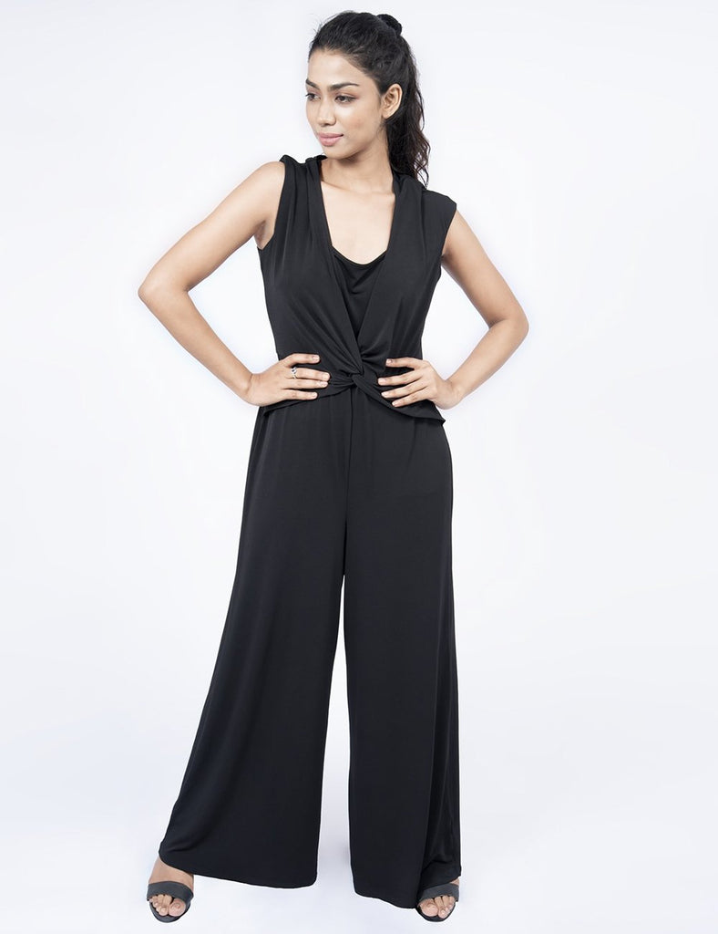 Avirate Black Jumpsuit
