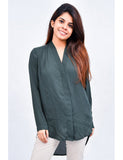 Green V Neck Tunic