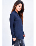 Navy Blue V Neck Tunic