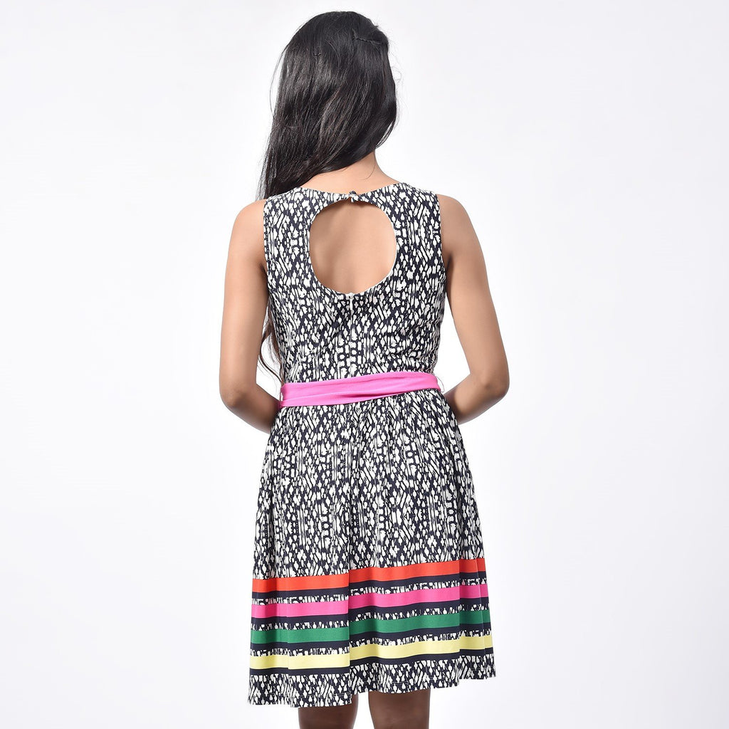Multi Color Geometry Dress