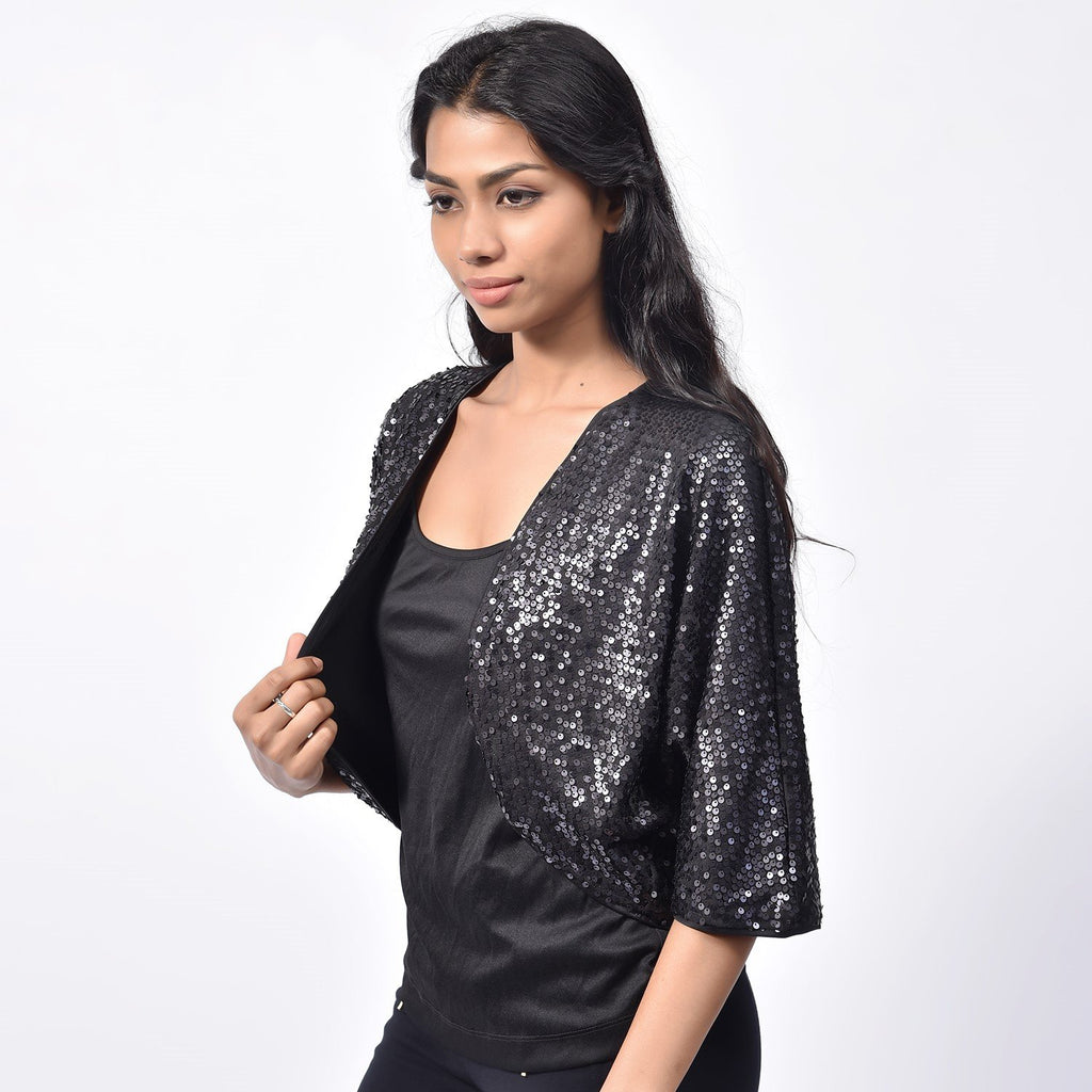 Black Shiny Bolero
