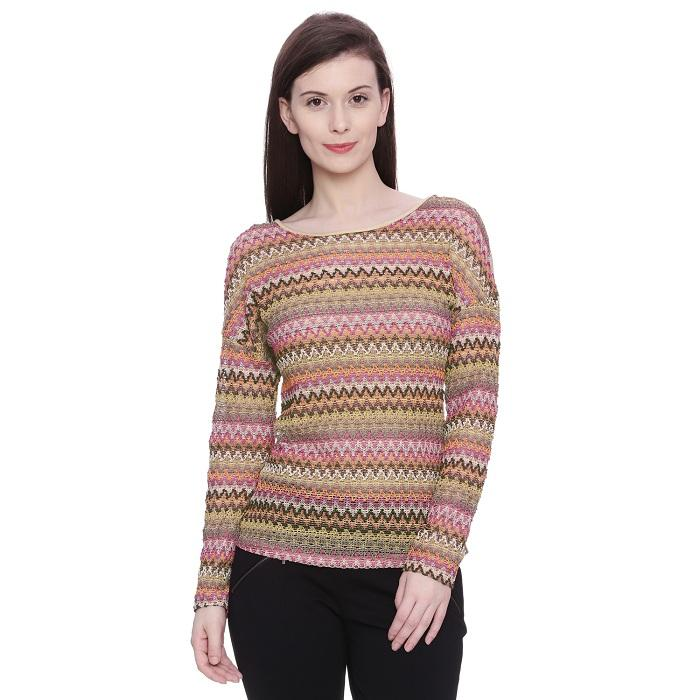 Chevron Knitted Top