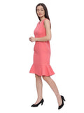 Sophie Coral Sleeveless Formal Dress