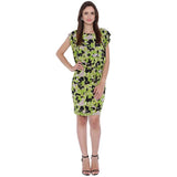 Green Abstract Printed Dress