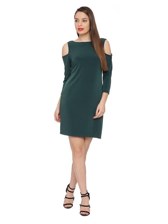 Green Cold Shoulder Tunic