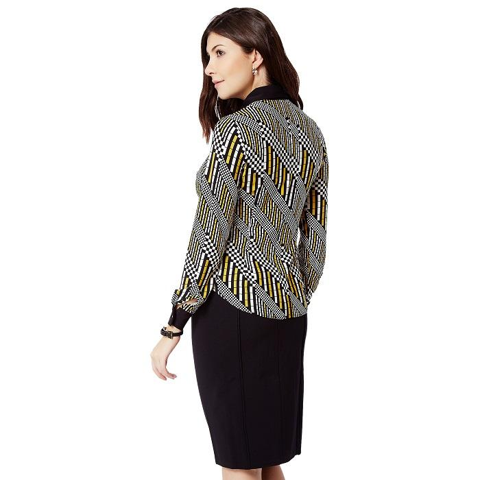 Multicolour Geometric Print Shirt