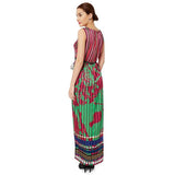 Multicolour Satin Maxi