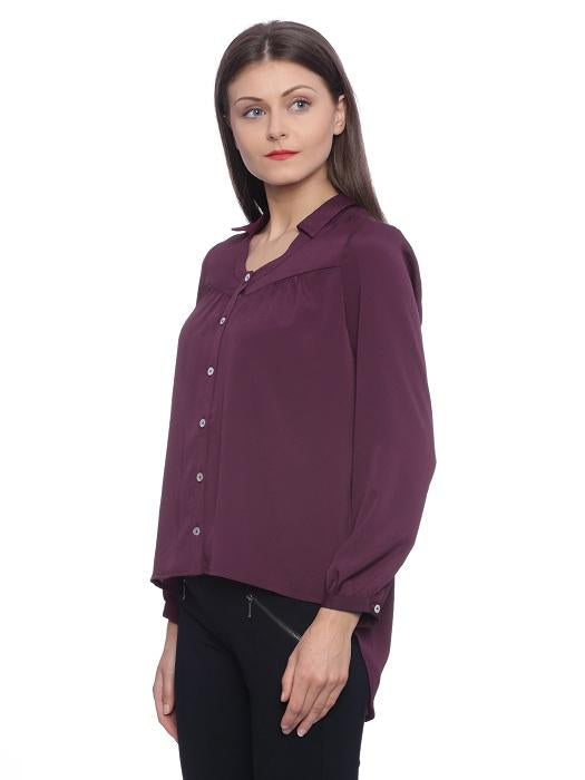 Purple High Low Shirt