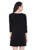 V Neck Black Tunic