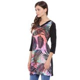 V Neck Printed Tunic
