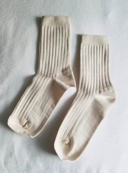 Her Socks (MC Cotton) -Porcelain