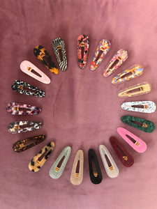 Oval hair clips