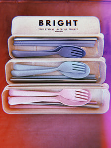 Bright Reusable Cutlery Sets