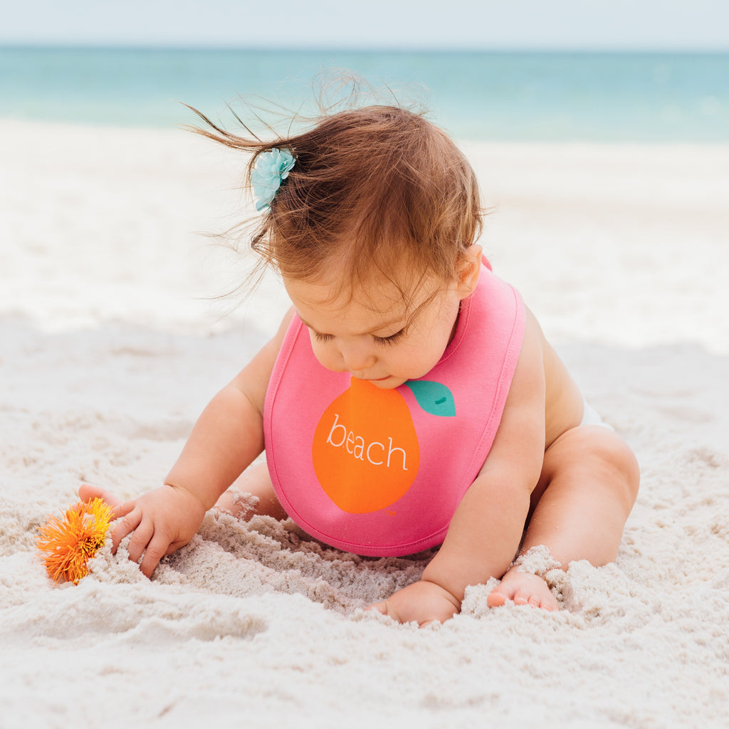 Snap Orange Beach Bib