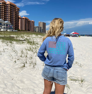 Long Sleeve Flag Tees