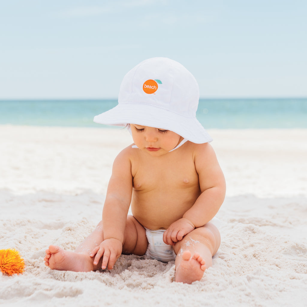 Orange Beach bucket hat for babies and kids