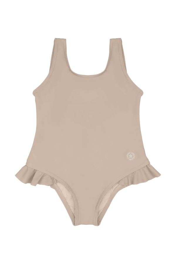 Dewi swimsuit Ruffle-detail - Sand