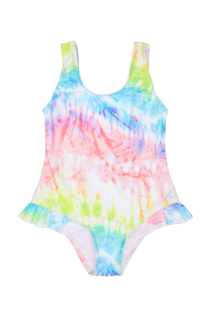 Dewi swimsuit Ruffle-detail - Sunset