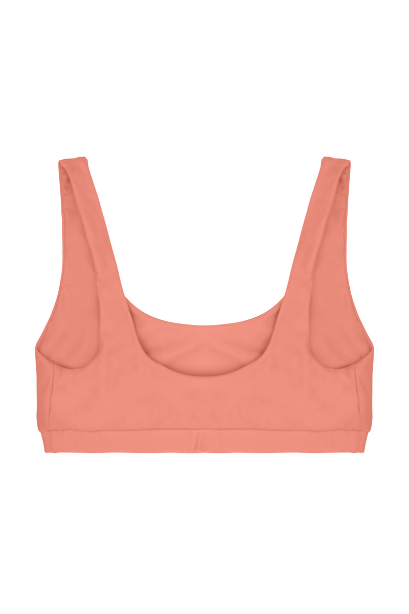 Agung top Scoop-neckline - Coral