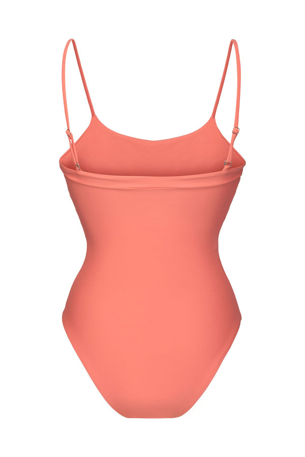 Penida one-piece Scoop-neckline - Coral