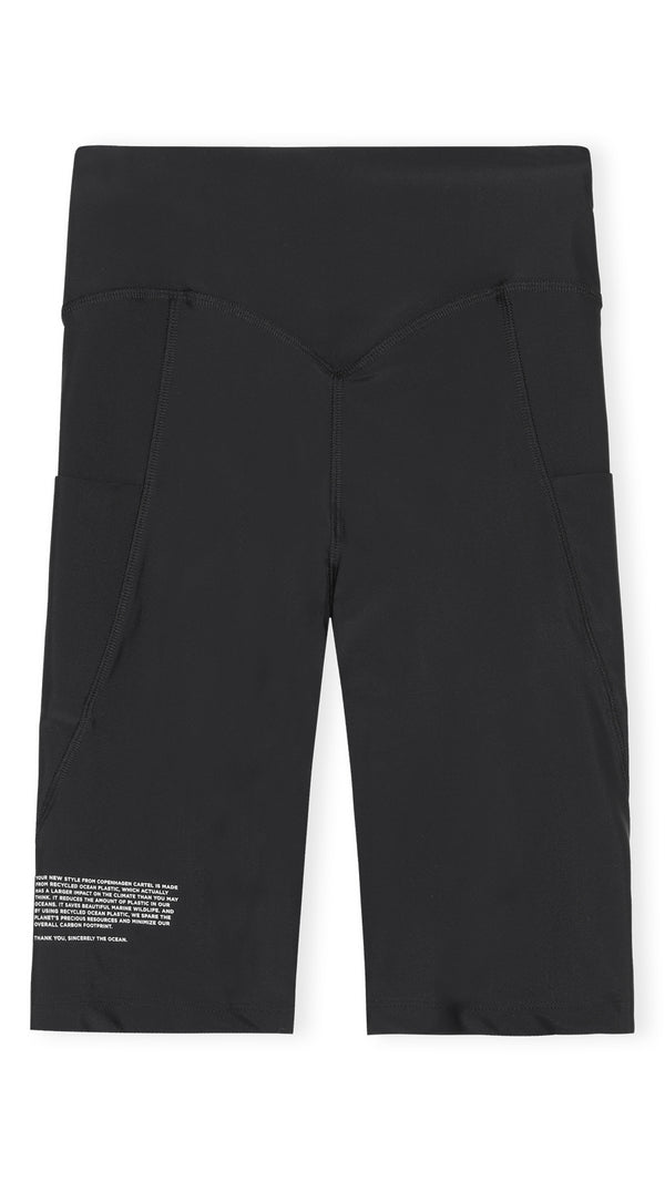 Center high-rise bike shorts - Nero