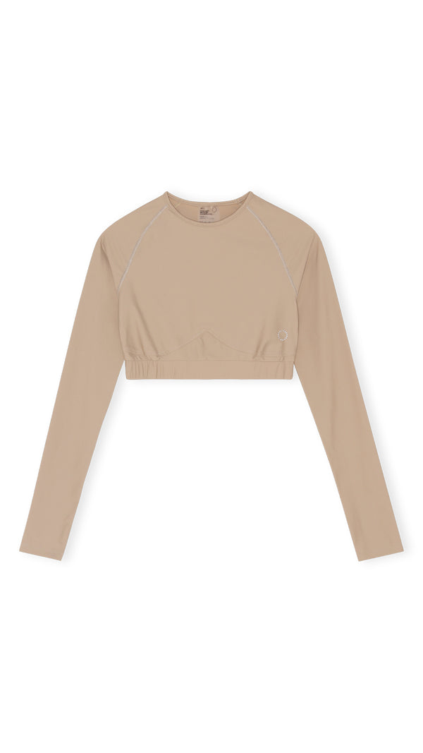 Flow long sleeve top - Sand