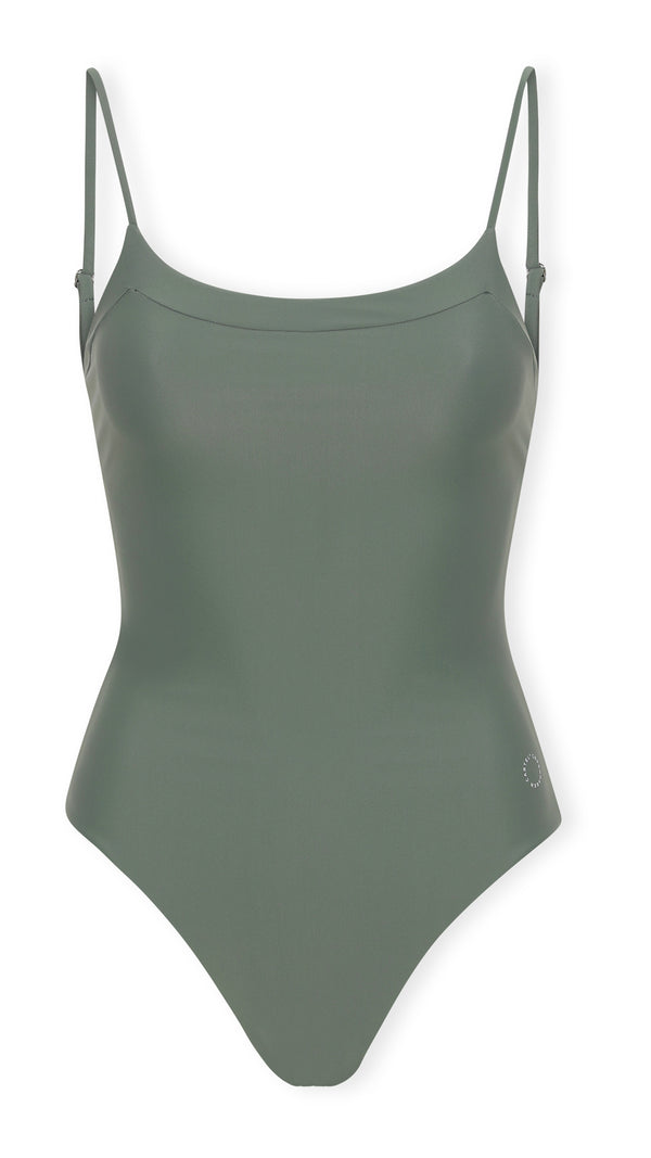 Penida one-piece Scoop-neckline - Army