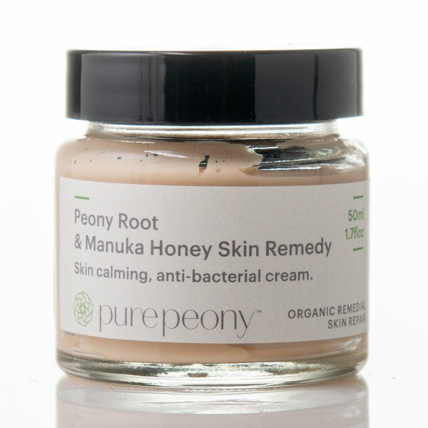 Peony Root and Manuka Honey Skin Remedy - 50ml Glass Pot